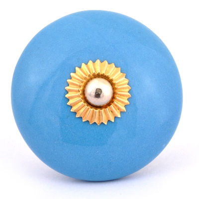 PotteryVille Turquoise Cabinet Knob