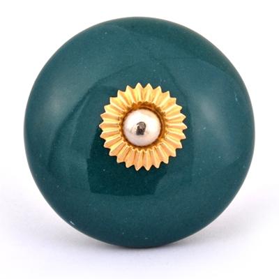 PotteryVille Dark Green Cabinet Knob