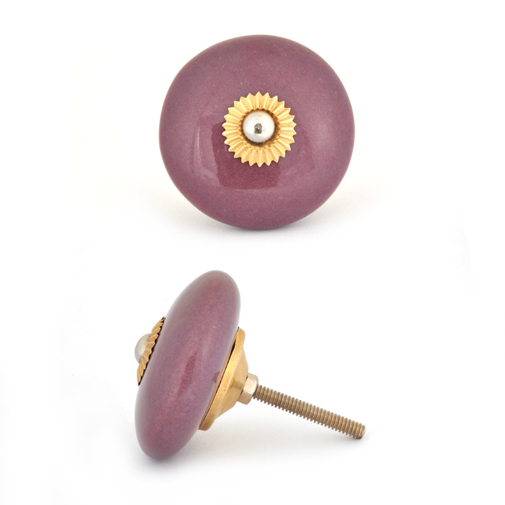 PotteryVille Purple Colored Cabinet knob