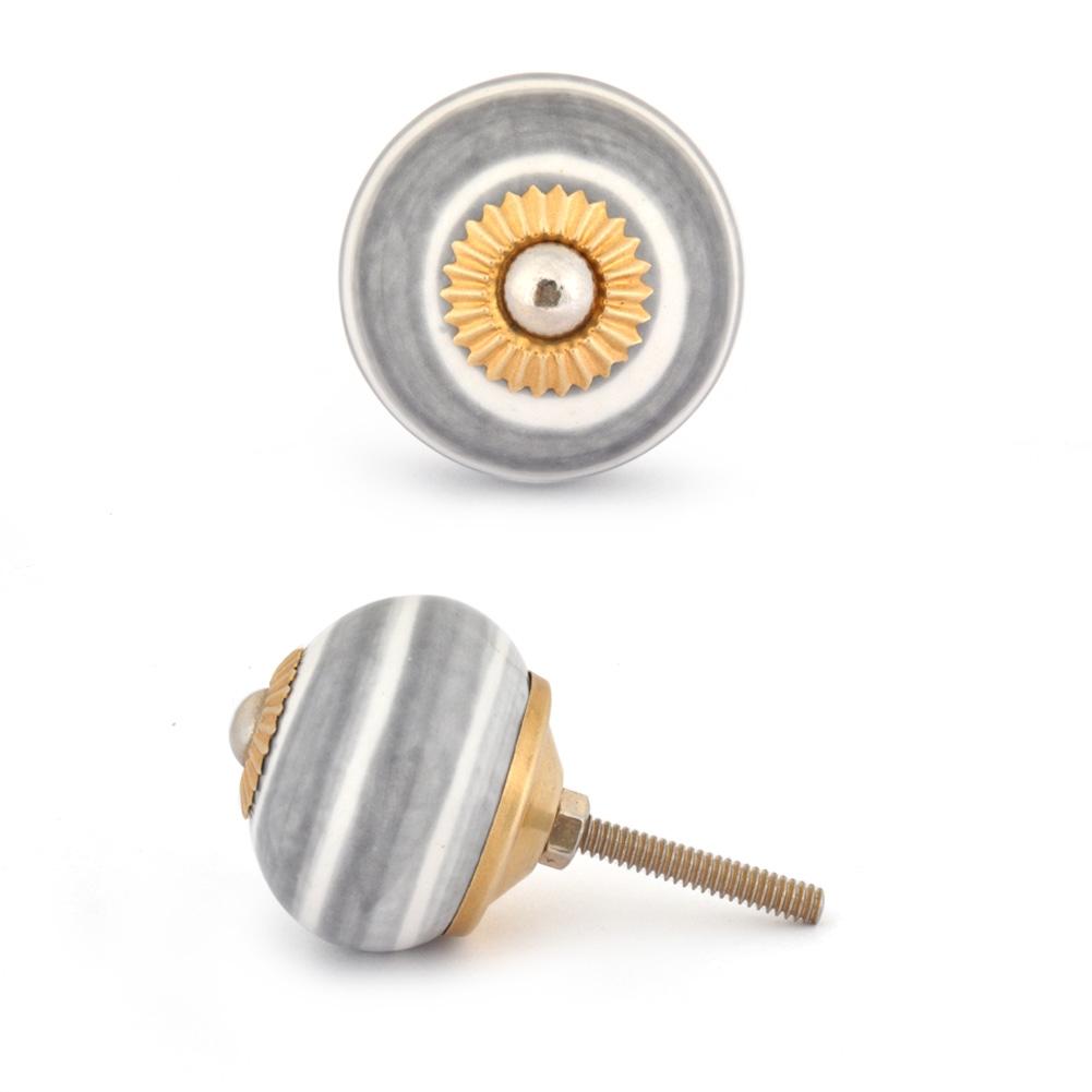 Potteryville Light Black and White Base Cabinet knob