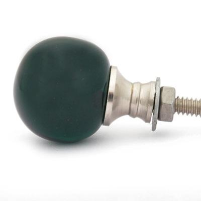 PotteryVille Dark Green Glass Magic Crystal Ball Style Knob