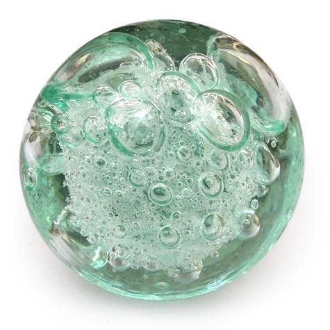 Potteryville Aqua Light Sea Green Glass Round Knob With