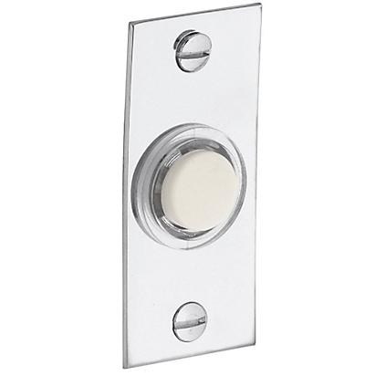 Baldwin 4853 Rectangular Bell Button in Polished Chrome (260)