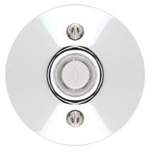 Emtek 2457 Door Bell Button w/Modern Rose Polished Chrome (US26)