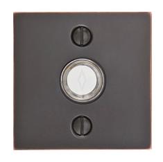 Emtek 2459 Door Bell Button w/Square Rose Oil Rubbed Bronze (US10B)