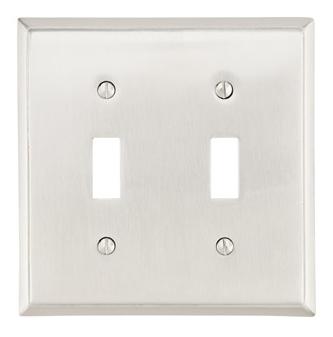 Emtek 29112 Colonial Toggle 2 Switchplate Satin Nickel (US15)