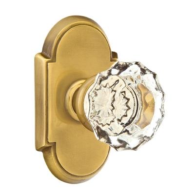 Emtek Astoria Clear Door knob with #8 Rose French Antique (US7)