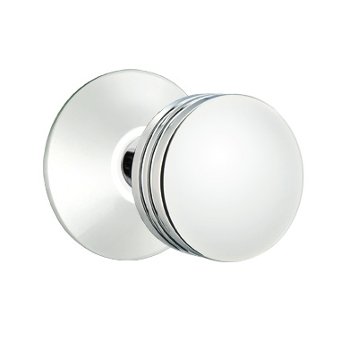 Emtek Bern Door Knob Set with Modern Rose Polished Chrome (US26)
