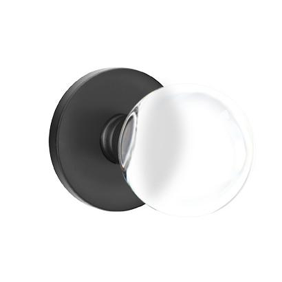 Emtek Modern Bristol Door Knob Set with Disk Rosette Flat Black