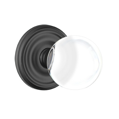 Emtek Bristol Door Knob Set with Regular Rose Flat Black (US19)