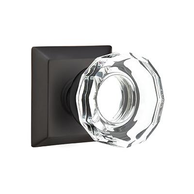 Emtek Lowell Crystal Door Knob Set | Low Price Door Knobs