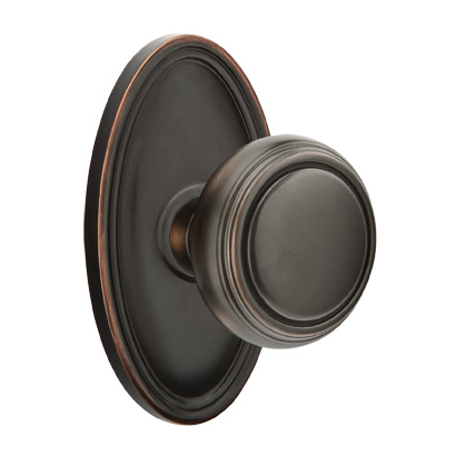 Incroyable Emtek Norwich Door Knob With Oval Rose Oil Rubbed Bronze (US10B)