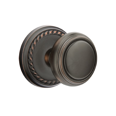 Interesting Interior Door Knobs Emtek Norwich Knob With Rope Rose Oil Rubbed Bronze For Design