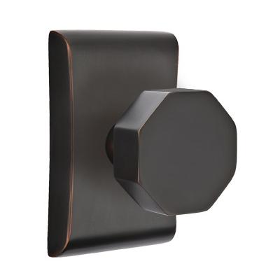 Emtek Brass Octagon Door Knob Set with Neos Rose Oil Rubbed Bronze (US10B)