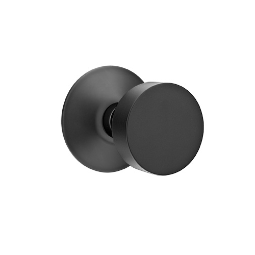 Wonderful Emtek Brass Round Door Knob Set With Modern Rose Flat Black