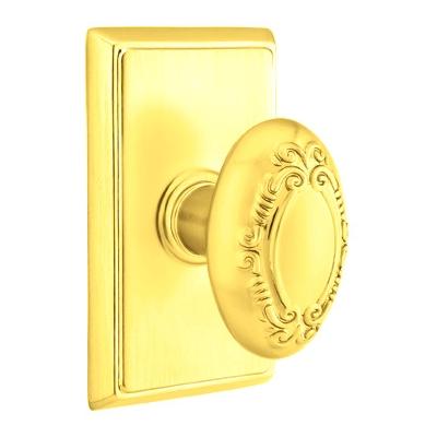 Emtek Victoria Door knob with Rectangular Rose Polished Brass (US3)