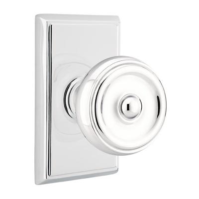 Emtek Waverly Door Knob with Rectangular Rose Polished Chrome (US26)