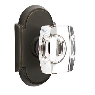Emtek Windsor Crystal Door Knob with #8 Rose Oil Rubed Bronze