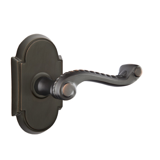 Emtek Rope Door Lever with #8 Rose Oil Rubbed Bronze (US10B)