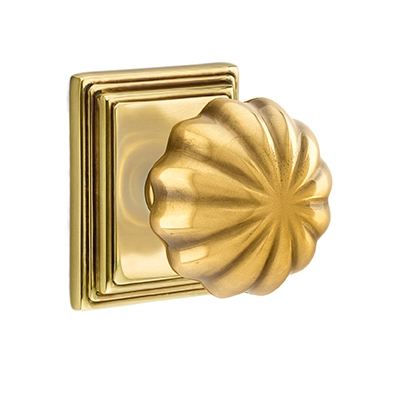 Emtek Melon Door knob with Wilshire Rose French Antique (US7)