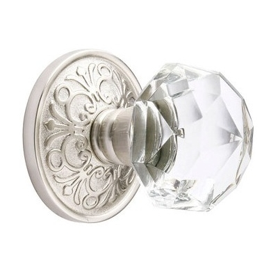 Emtek Diamond Crystal Door Knob Set Low Price Door Knobs