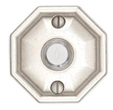 Emtek 2415 Door Bell Button w/#15 Rose silver Patina (SP)
