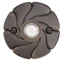 Emtek 2417 Door Bell Button w/#17 Rose Medium bronze Patina