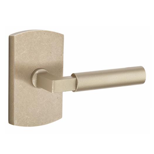 Emtek 7100BR Sandcast Bronze Bryce Door Lever Set Tumbled White Bronze (TWB)
