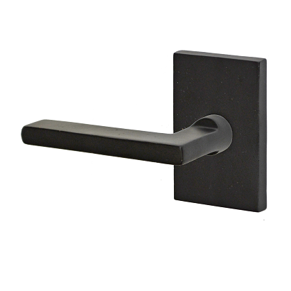Fusion Bronze Square Blade Lever with Rectangular Rose Dark Bronze (DKB)