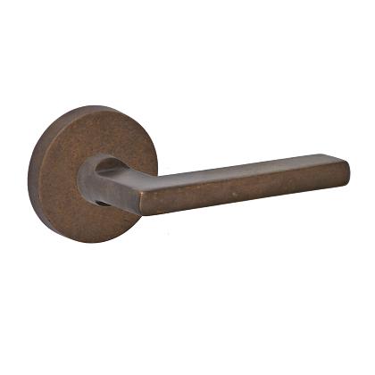 Fusion Bronze Square Blade Lever with Disk Rose Medium Bronze