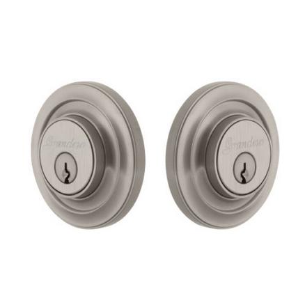 Grandeur Circulaire Double Cylinder Deadbolt Satin Nickel
