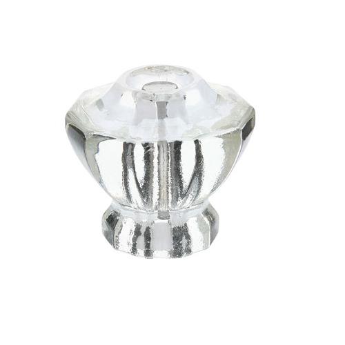 Emtek 86017, 86210 Astoria Clear Cabinet Knob w/ Satin Nickel Screws (US15)