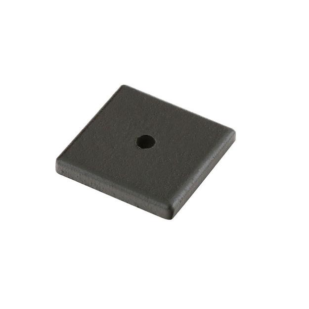 Emtek 86342 Sandcast Bronze Square Cabinet Knob Backplate Flat Black Patina (FB)