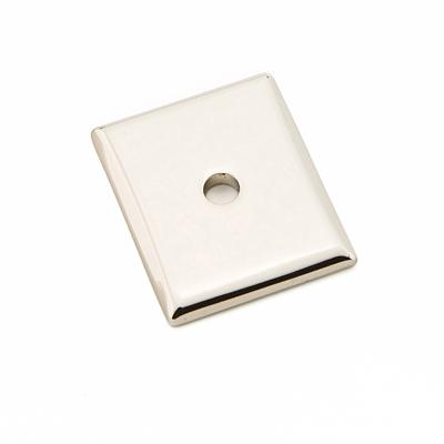 Emtek 86420 Neos Backplate For Knob Polished Nickel (US14)