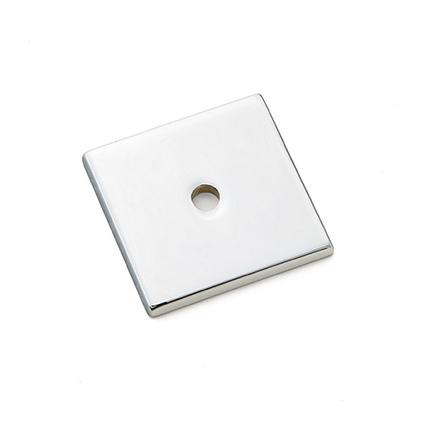 Emtek 86434 Art Deco Square Cabinet Knob Backplate