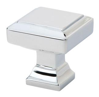 Emtek Brass Geometric Square Cabinet Knob 86295, 86296