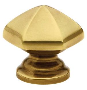 Emtek Brass Hexagon Cabinet Knob 86119, 86120, 86204