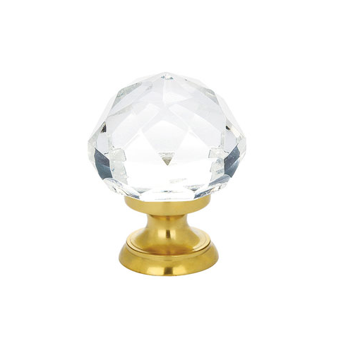 Emtek 86003, 86012 Diamond Cabinet Knob Polished Brass (PB)