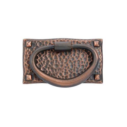 Emtek 86041 Hammered Oval Ring Pull Oil Rubbed Bronze (US10B)