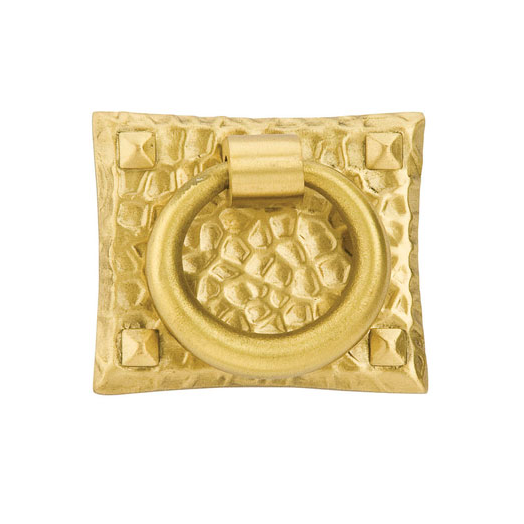 Emtek 86040 Hammered Ring Pull Polished Brass (US3)