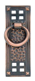 Emtek 86042 Hammered Vertical Ring Pull Oil Rubbed Bronze (US10B)
