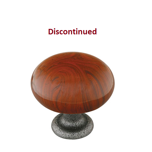 Emtek Brown Swirl Madison Porcelain Cabinet Knob Low