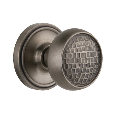 Nostalgic Warehouse Craftsman Knob Privacy Mortise with Classic Rose AP