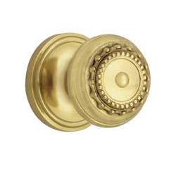 Nostalgic Warehouse Meadows Knob with Classic Rose Polished Brass