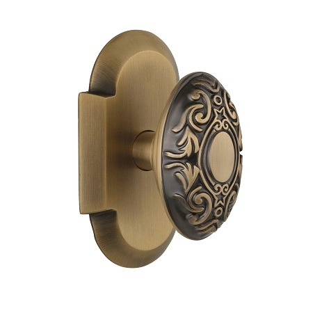 Nostalgic Warehouse Cottage Plate with Victorian Knob Antique Brass