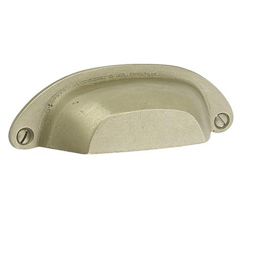 Emtek Sandcast Bronze Ranch Bin Pull 86326, 86327 Tumbled White Bronze (TWB)