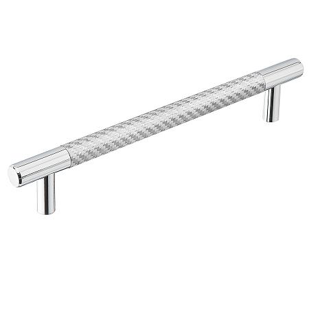 Emtek Silver Carbon Fiber Bar Cabinet Pull 86385, 86386, 86387, 86388, 86389, 86