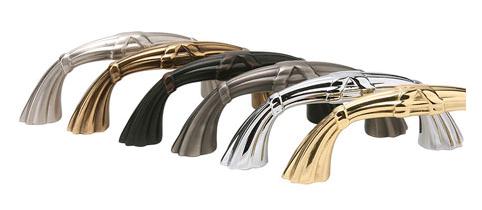 Emtek Regal Ribbon and Reed Fixed Cabinet Pull 86288, 86289, 86290, 86291, 86292