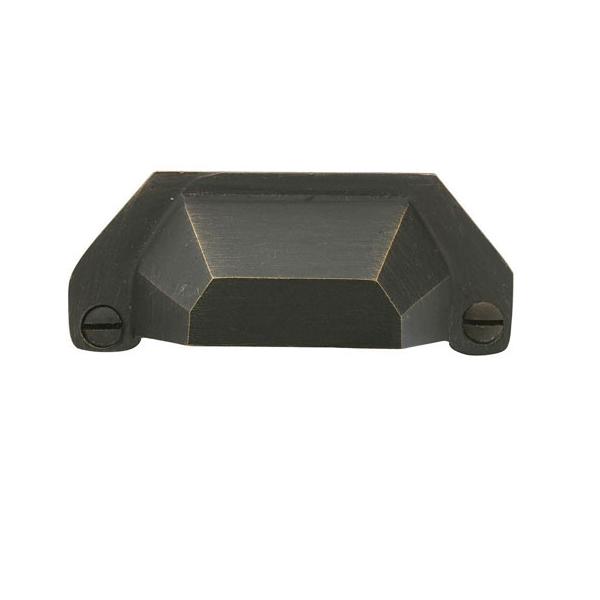 Emtek Sandcast Bronze Bin Pull 86050, 86051 Medium Bronze Patina (MB)