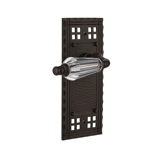 Nostalgic Warehouse Craftsman Backplate with Parlour Lever Oil Rubbed Bronze